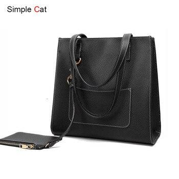 2018 Women Bag Casual Tote Fashion Handbag Shopper Shopping Purse Shoulder Daily Casual Designer Lady Top-Handle Bags