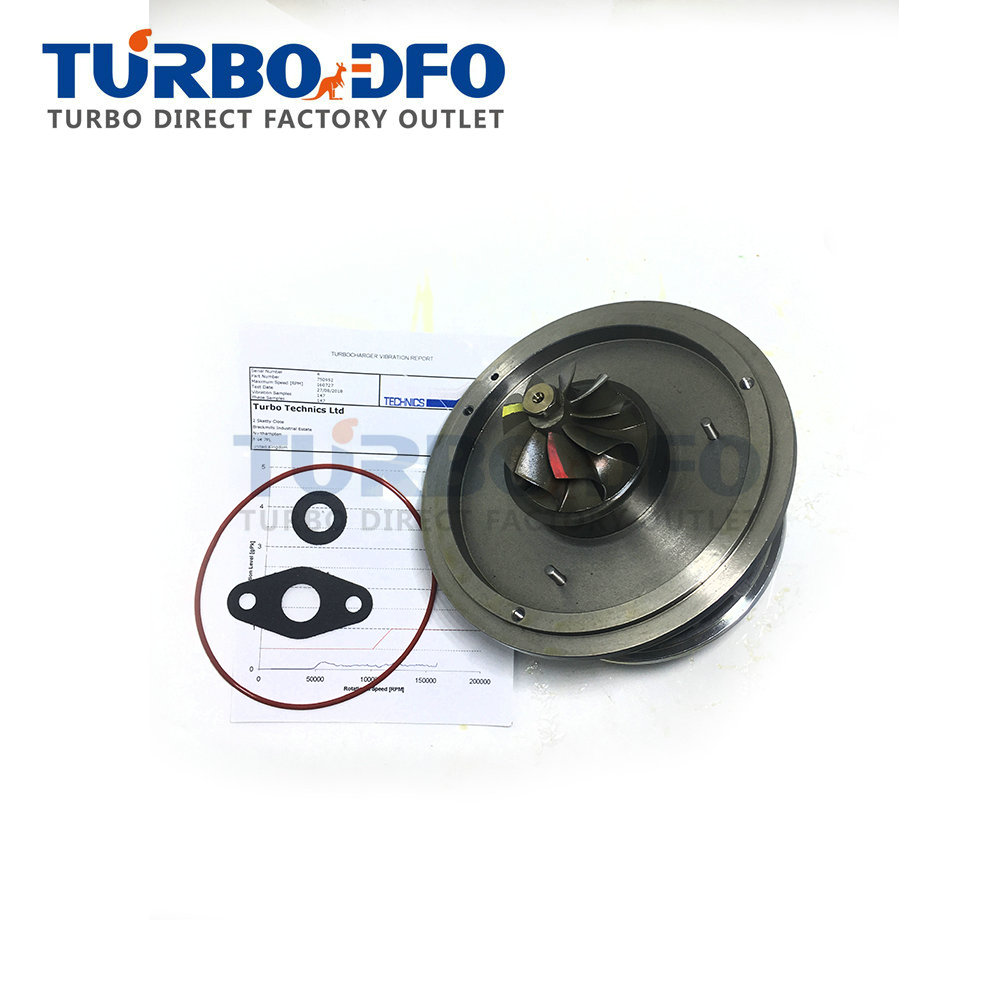 <font><b>GT1752V</b></font> 750952 Garrett turbo cartridge Balanced for BMW 120D E87 163HP 120 Kw 2.0D M46TU - NEW turbine CHRA 750952-0001/4/7 core image