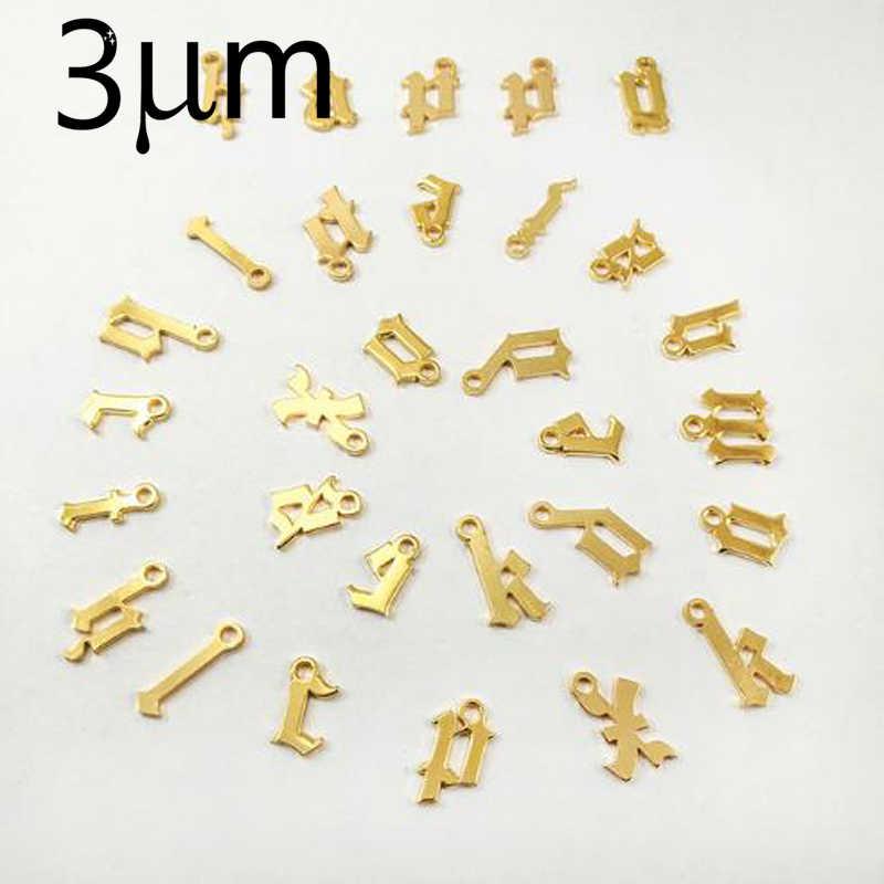 3 UMeter Custom Old ตัวอักษรอุปกรณ์เสริม Alif แขวน Gepersonaliseerde Sieraden Multi Optie Charms สำหรับ Ketting DIY Matchment Gif