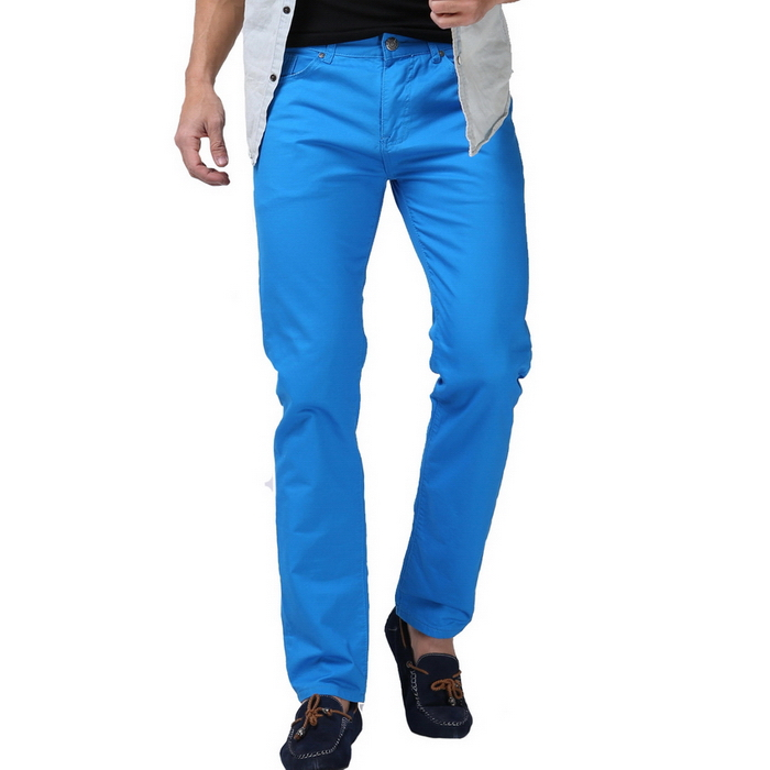 2016 New Men Candy Color Pants Fashion Casual Brand Pants