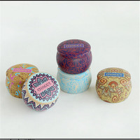 1pcs Europe Type Style Tea Caddy Receive Box Candy Storage Box Wedding Favor Tin Box Cable
