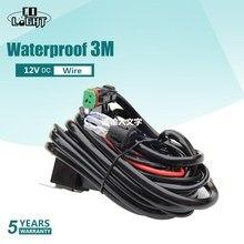 CO LIGHT Kit de câblage robuste, lumière Led bars, commutateurs étanches de 3 mètres, 18AWG, pour conduite automobile tout terrain lampe de travail Led