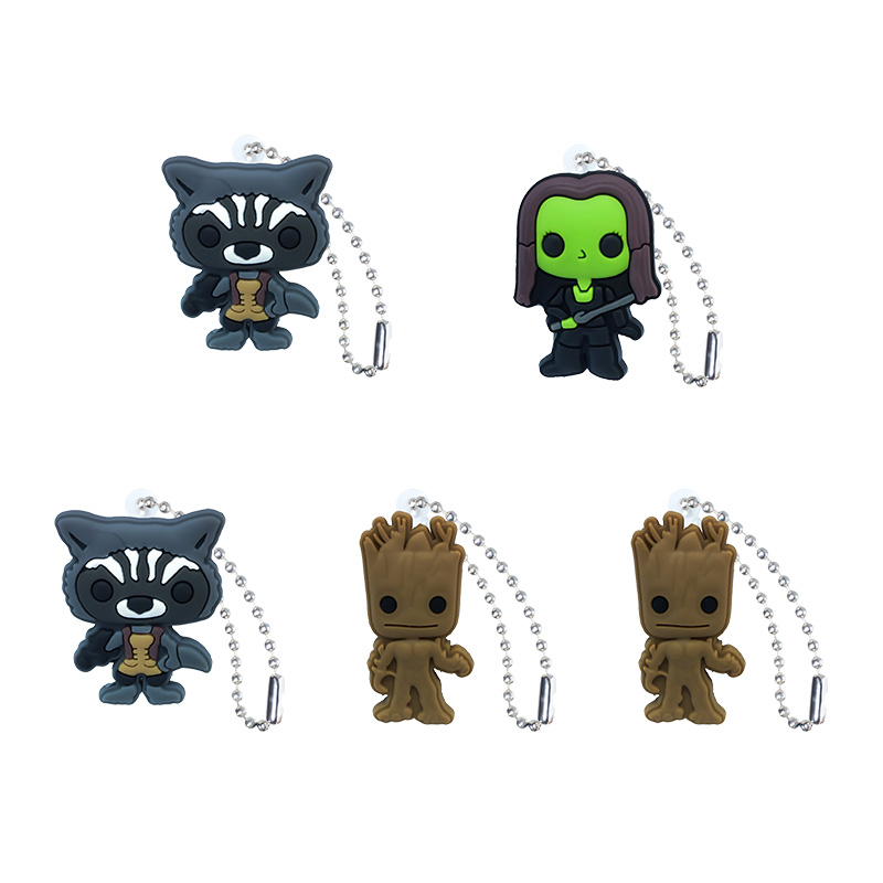 Bag Parts & Accessories 5pcs Guardians Of The Galaxy Key Rings Accessories Diy Cartoon Key Chains Pendant Fit For Bag Xmas Gifts