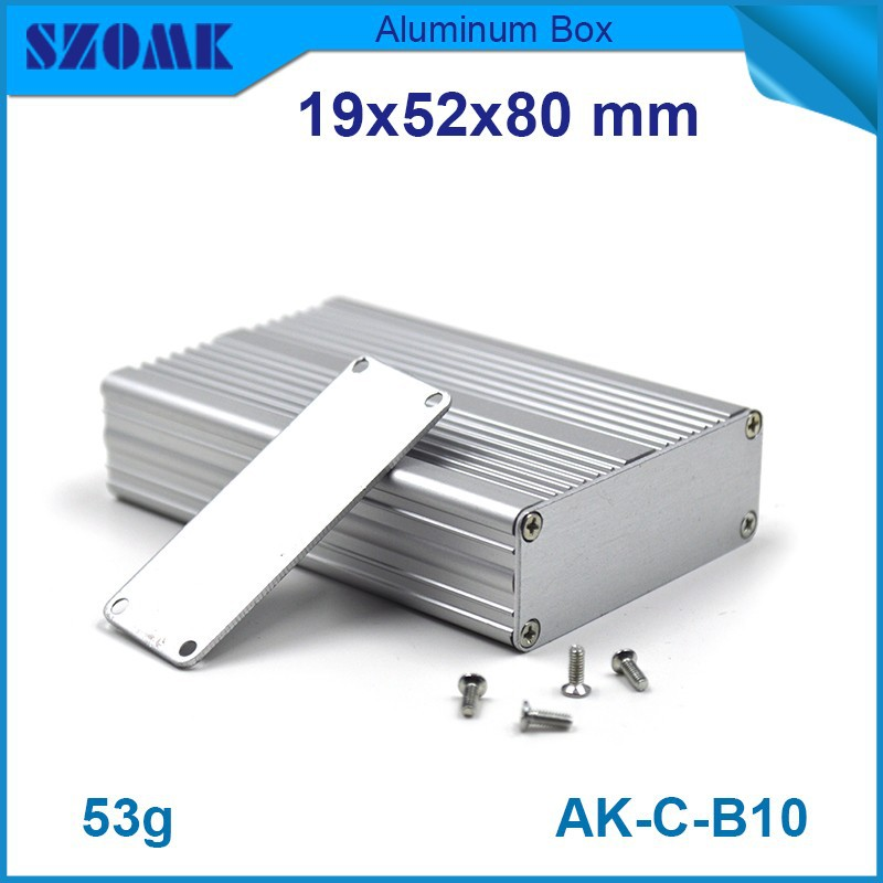 IP54 dusk-proof aluminum housing enclosures 10 pcs/lot silver color nice looking length and color could be changeable image