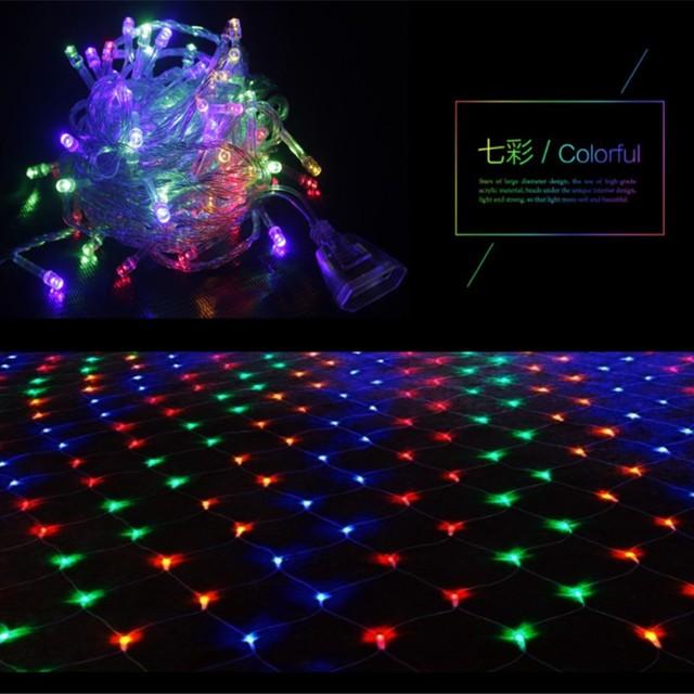 aliexpress com buy 1 5 1 5 2 3 4 6m led net mesh light
