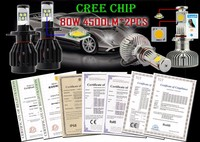 H11 H8 H11 LED Car Headlight Kit Bulbs 80w 8000lm Cree T6 Chips LED Conversion Kit