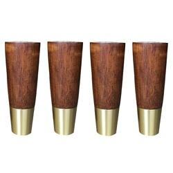 4,8x12x2,8 см мебель из каучукового дерева ноги простые Стиль ножки стола ножки для шкафа с железной пластины и винты