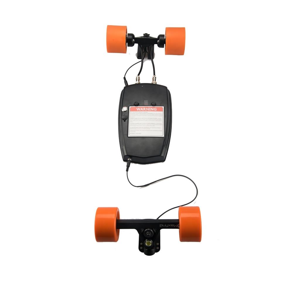 Maxfind electric skateboard drive kits with dual hub motors Four Wheel Samsung battery