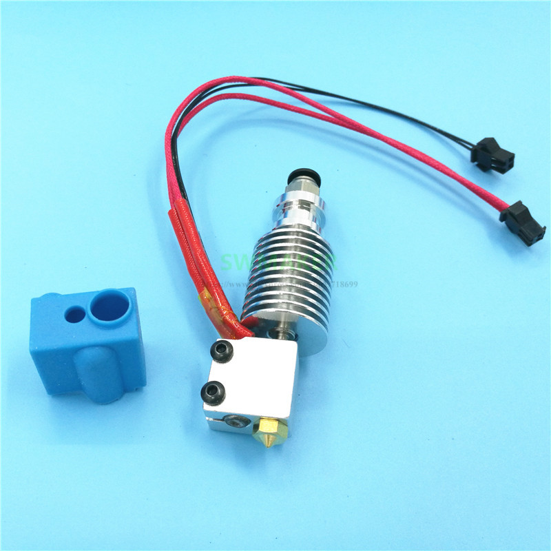 TEVO All Metal Bowden / Direct Hotend With Blue Silicone Sock Volcano Nozzle For Little Monster 3D Printer Accessories