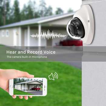 H.265 3MP 2048*1536 IP Camera PoE IP66 Metal 20M Night Vision Audio Dome HD Security Camera 2.8mm Wide Angle Outdoor Indoor Use
