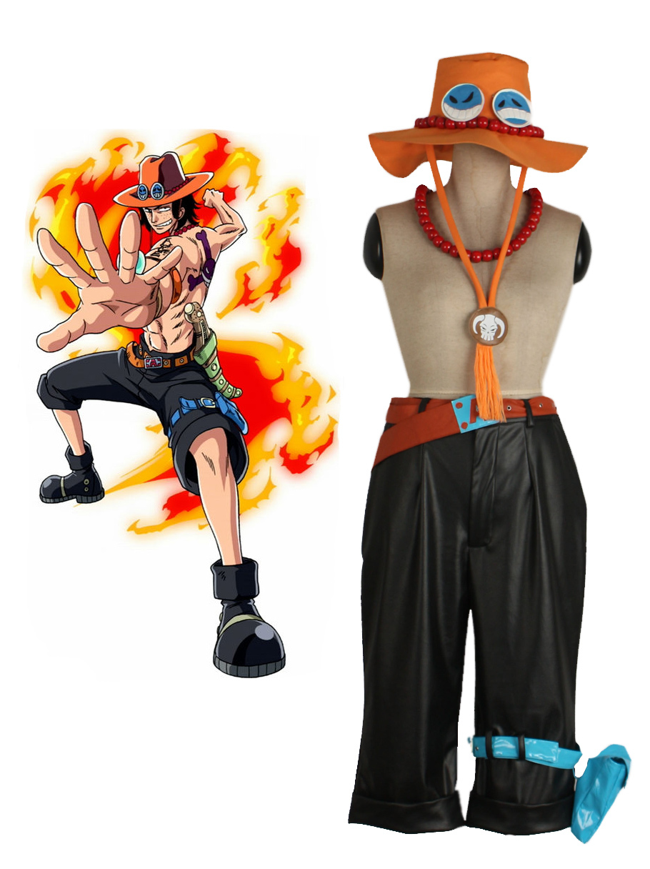 Free Shipping One piece Portgas.D. Ace Outfits Anime Cosplay Costume