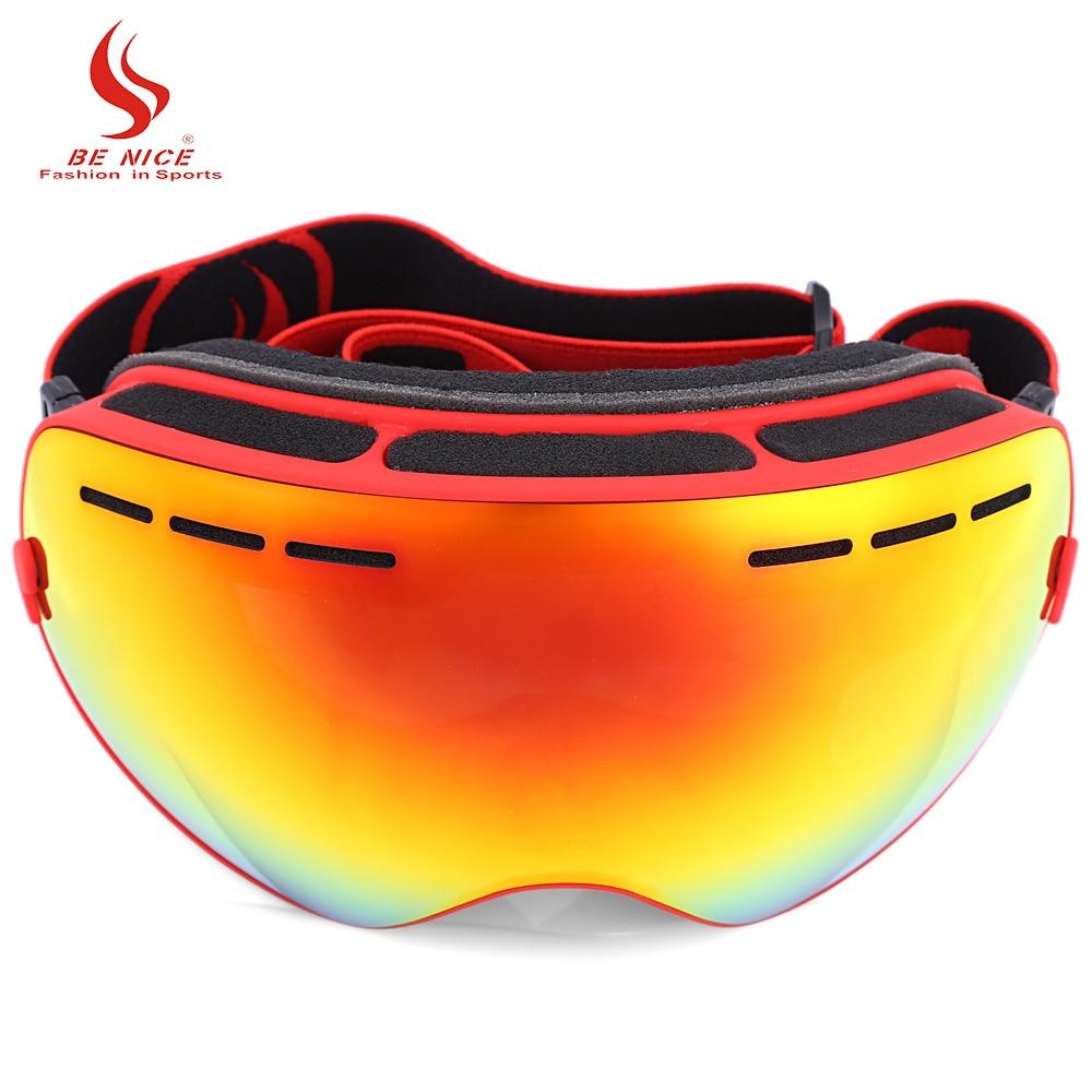 Prix pour Être Belle Unisexe Double Lentille UV400 Anti-Brouillard Grand Sphérique Ski Lunettes Lunettes de Neige Sports de Plein Air Ski Snowboard Lunettes masque