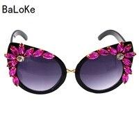 ef6955b8f5cc3b 2019 New Design Runway Baroque Crystals Women Girls Sunglasses Retro  Crystal Rhinestone Sunglasses Summer Beach Glasses