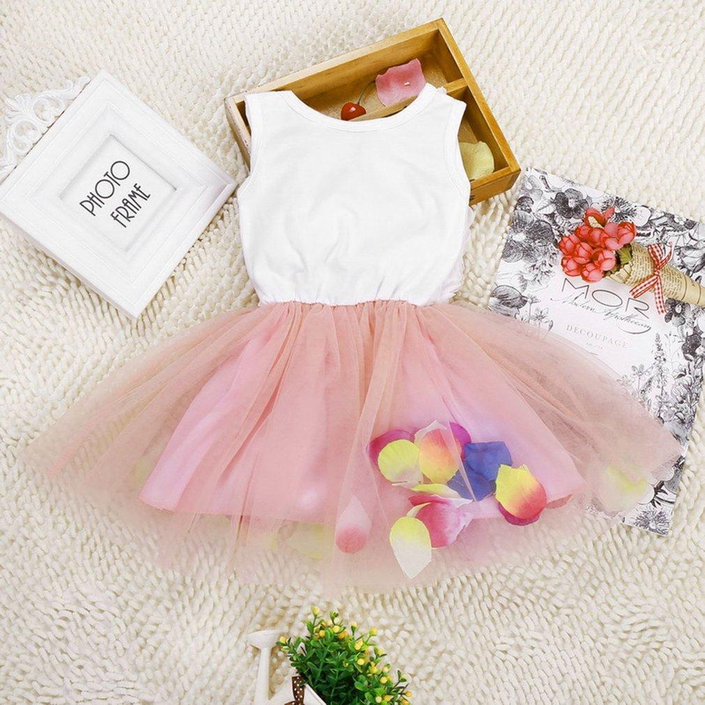 New Arrival Princess Cloth Kids Sleeveless Girls Dress Casual Comfortable Summer Outdoor Princess Dress