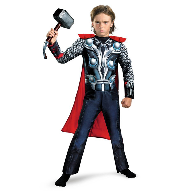 disfraces adultos thor avengers thor costume halloween boys  fancy dress costumes for kids child Children Avengers
