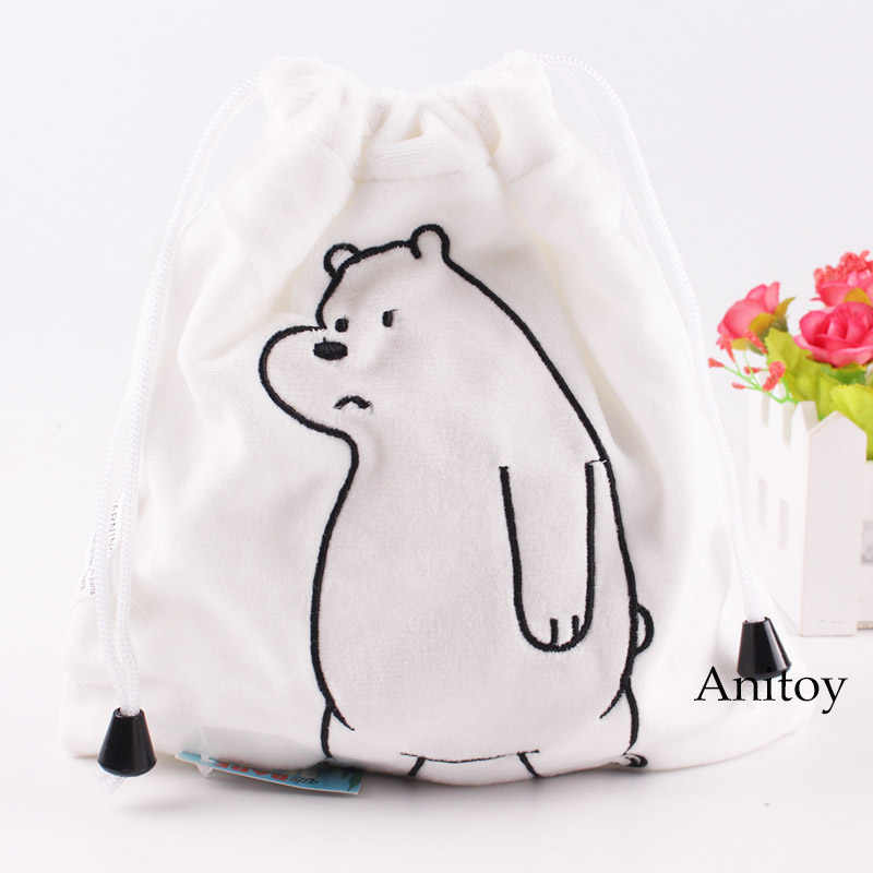 fdc9da8bd94b ... Anime Plush Toy Kids Baby Bag We Bare Bears Plush Bag Grizzly   Panda    Ice ...
