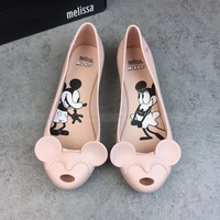 Melissa Shoes Women Mickey 2019 New Women Flat Sandals Brand Mini Melissa Shoes For Women Jelly Sandals Female Jelly Shoes