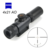 4x21 AO Compact Hunting Scopes Rifle Scope Tactical Riflescope Glass Etched Reticle Optic Sight With Flip open Lens Caps
