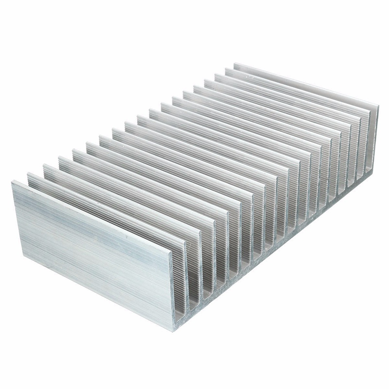 182x100x45mm Aluminum Heat Sink Radiator Heatsink For IC Electronic Chipset Heat Dissipation High Power LED Amplifier Transistor 10pcs lot ultra small gvoove pure copper pure for ram memory ic chip heat sink 7 7 4mm electronic radiator 3m468mp thermal