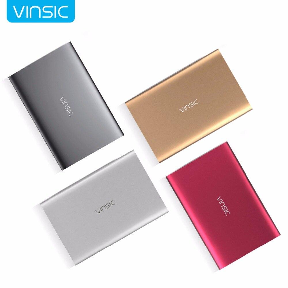 Vinsic M50000 Portable batterie externe 20000 mAh externe chargeur de batterie Ultra mince double USB pour iPone X 8 8plus Xiaomi Samsung