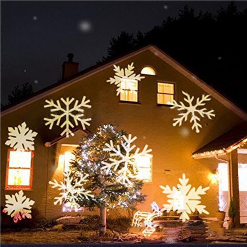 IP68 Christmas Lights Outdoor LED Laser Stage Lamp Snowflake Projector Disco KTV Bar Light For Home Entertainment Lighting