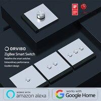 2018 orvibo geekrav zigbee interruptor inteligente zero & interruptor de fogo botão metal controle de detecção remoto|Controle remoto inteligente| |  -