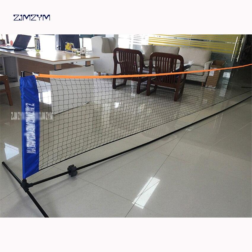 Filet de sport de filet de Badminton Standard de maille carrée d'entraînement professionnel de haute qualité pour le remplacement extérieur de filet de Tennis de Badminton 6 M
