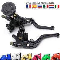 Moto Brake Clutch Lever Hydraulic Pump Motorcycle CNC For yamaha xvs 950 xt660x xt660r yzf 250 mt 07 virago 535 xj6 accessories