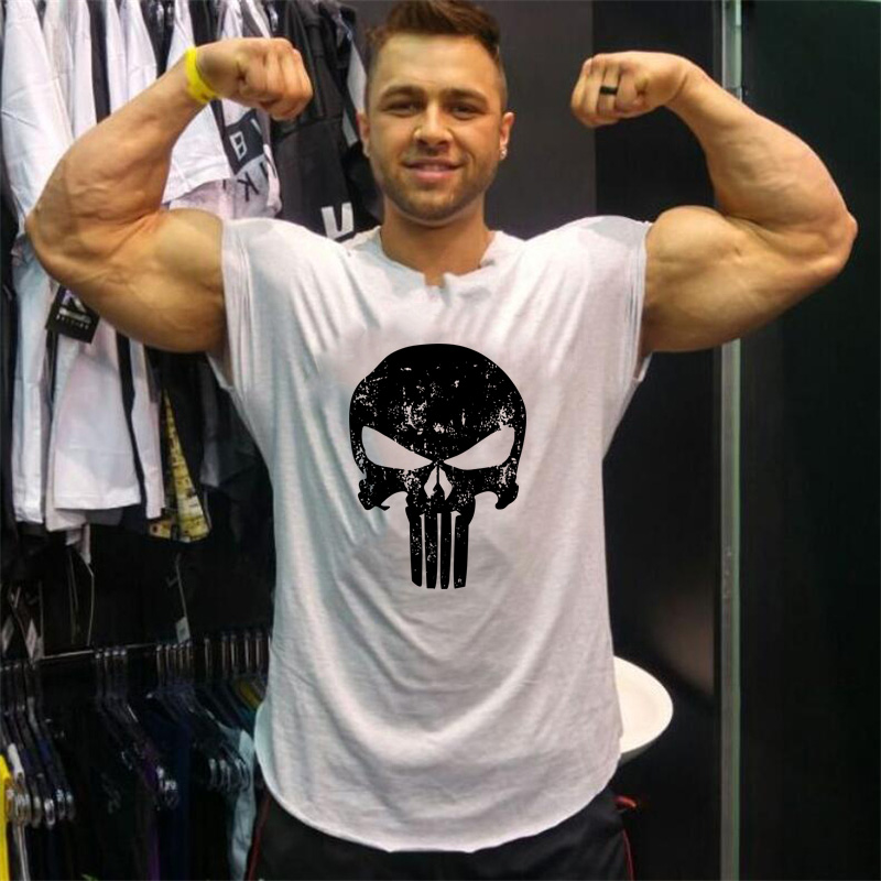 Punisher Skull bodybuilding tank tops gyms sleeveless shirt workout clothes for men clothes 2018 summer shirt tee shirt homme