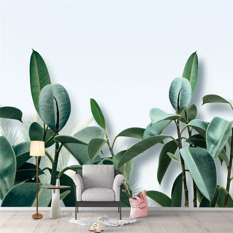 Custom Photo Large Wallpapers For Walls 3D Home Decor Natural Landscape Wall Papers Green Leaves Tree Murals for Living Room custom photo size wallpapers 3d murals for living room tv home decor walls papers nature landscape painting non woven wallpapers