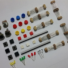 Super Pack Useful Normal parts set : Carbon film Resistor and LED and Potentiome