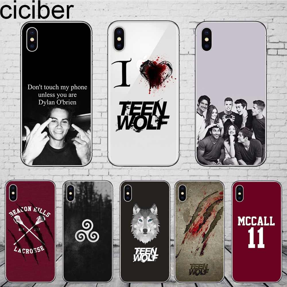 ciciber Teen Wolf for iPhone 11 Pro Max Phone Case Cover For iphone 8 7 6 6S 5S SE X 7plus 8plus 6plus Silicone Soft TPU Coque