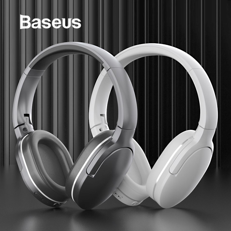 Baseus Wireless Bluetooth Headphone Foldable Music Stereo Earphone Bass Sound Headsets with Mic Adjustable for PC Mobile Phones