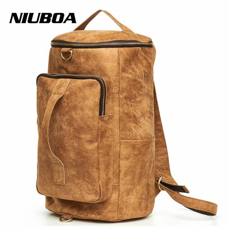 NIUBOA Genuine Leather Men's Backpacks Multi Bolsa Mochila for Laptop Notebook Computer Bags Men School Big Travel Rucksack dispalang personalized geometric backpack for laptop notebook school bags for college students men s travel bag rucksack mochila