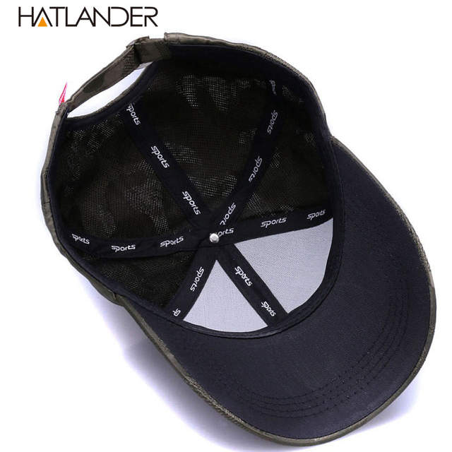 67f6d2c6 [HATLANDER]Lightweight Breathable solid baseball caps outdoor sports hats  gorras curved Airy mesh sun hat for men women