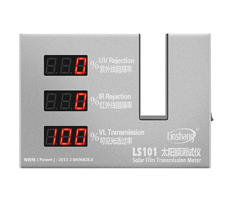 Window Tint Transmission Meter for Glass film 365nm UV 950nm IR Rejection 550nm Visible Light Transmittance LS101 the window office paper sticker pervious to light do not transparent bathroom window shading white frosted glass tint