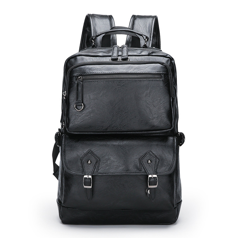 Backpack male student backpack upscale mens s retro waterproof backpacks bag