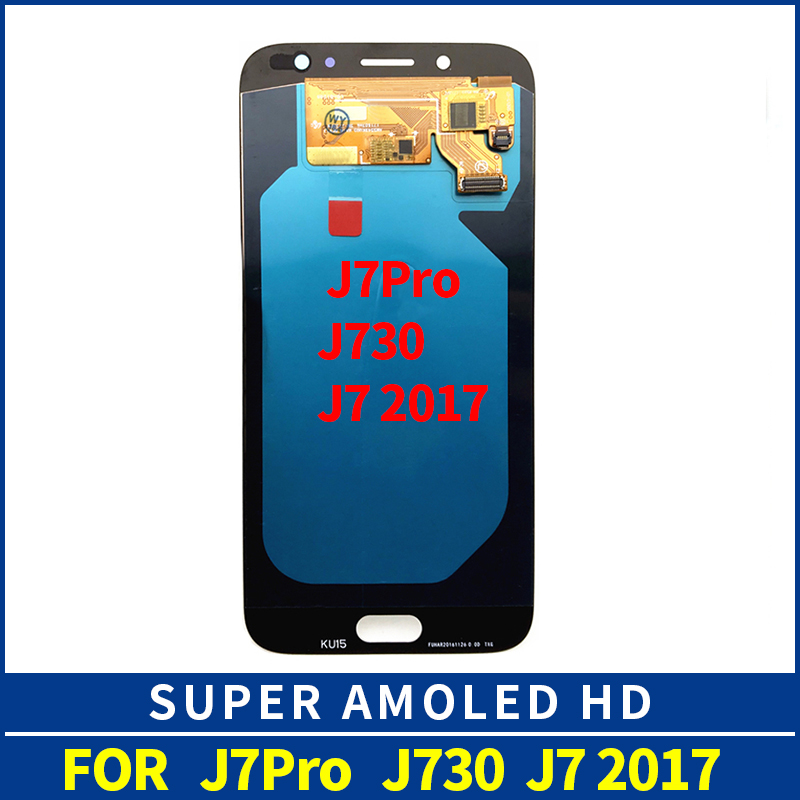 AMOLED Display Replacement for SAMSUNG Galaxy J7 Pro 2017 J730 LCD Display Touch Screen j7 pro