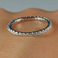 Полный Eternal 4/10ct натуральный бриллиантами обручальное кольцо Твердые 14 К белого золота Обручение Для женщин кольцо #5 Вечерние ювелирные укр