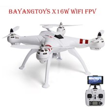 BAYANGTOYS X16W RC Drone Avec Appareil Photo 2MP WiFi FPV Maintien D'altitude Brushless 2.4 GHz 4 CH 6 Axe Gyro Quadcopter RTF Version RC jouets