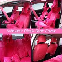 Purple Pink Plush Winter Seat Cover Women Universal Car Seat Covers for Girls Winter Warn Seat Pad Car Pad Seat Cover