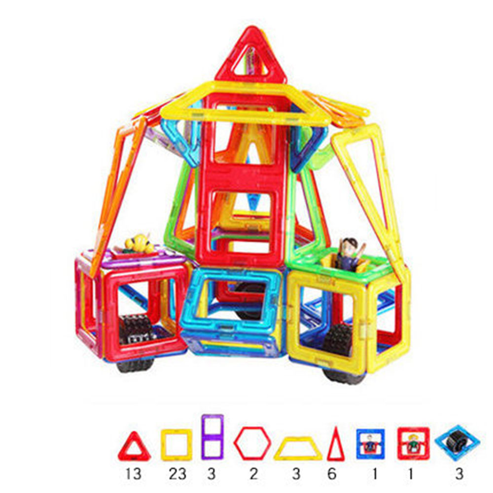 Small Car Shape Magnetic Designer Building Blocks Model & Building Toys Brick Enlighten Bricks Magnetic Toys for Children small car shape magnetic designer building blocks model