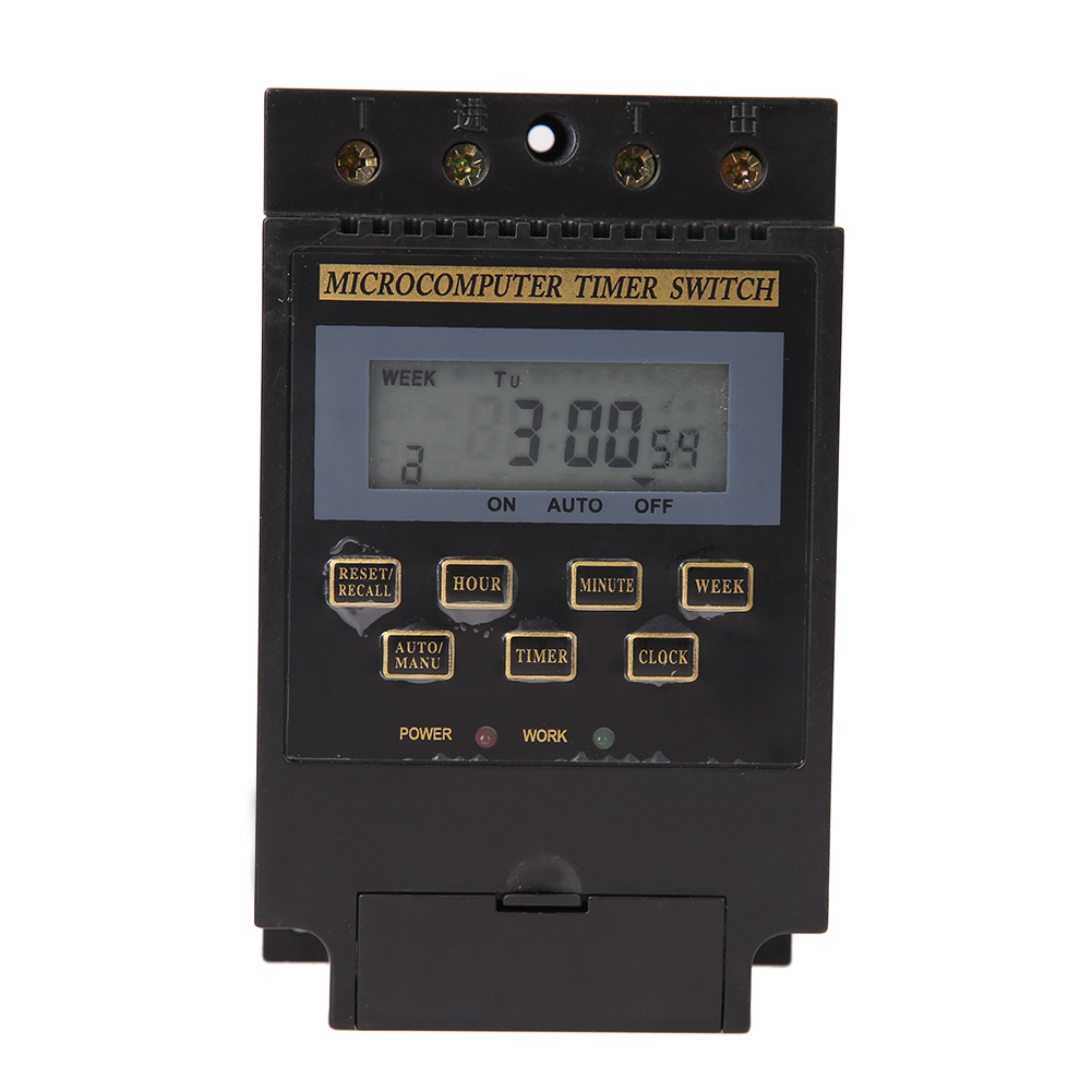 AC 220V Digital LCD Microcomputer Timer Switch Programmable Digital Time Relay Controller KG316T 1min - 168h 0 01 999 second 8 terminals digital timer programmable time relay