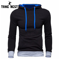 TANGNEST Men S Sweatshirt 2016 New Design Fashion Solid Hoooded Casual Autumn Hoodies 4 Colors Male