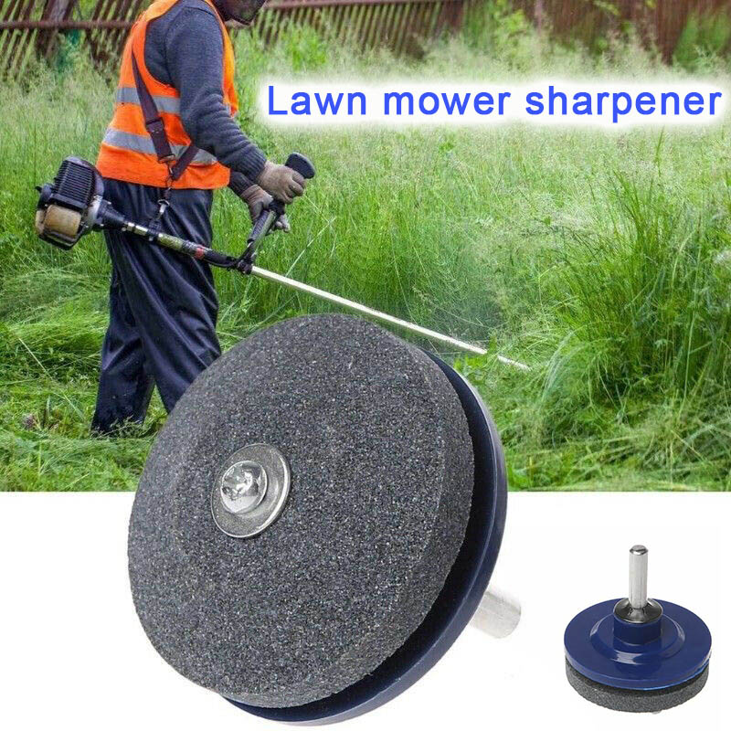 Grinding Drill Sharpener Lawnmower Faster Rotary Drill Grinding Tool Garden Lawn Mower Parts WWO66