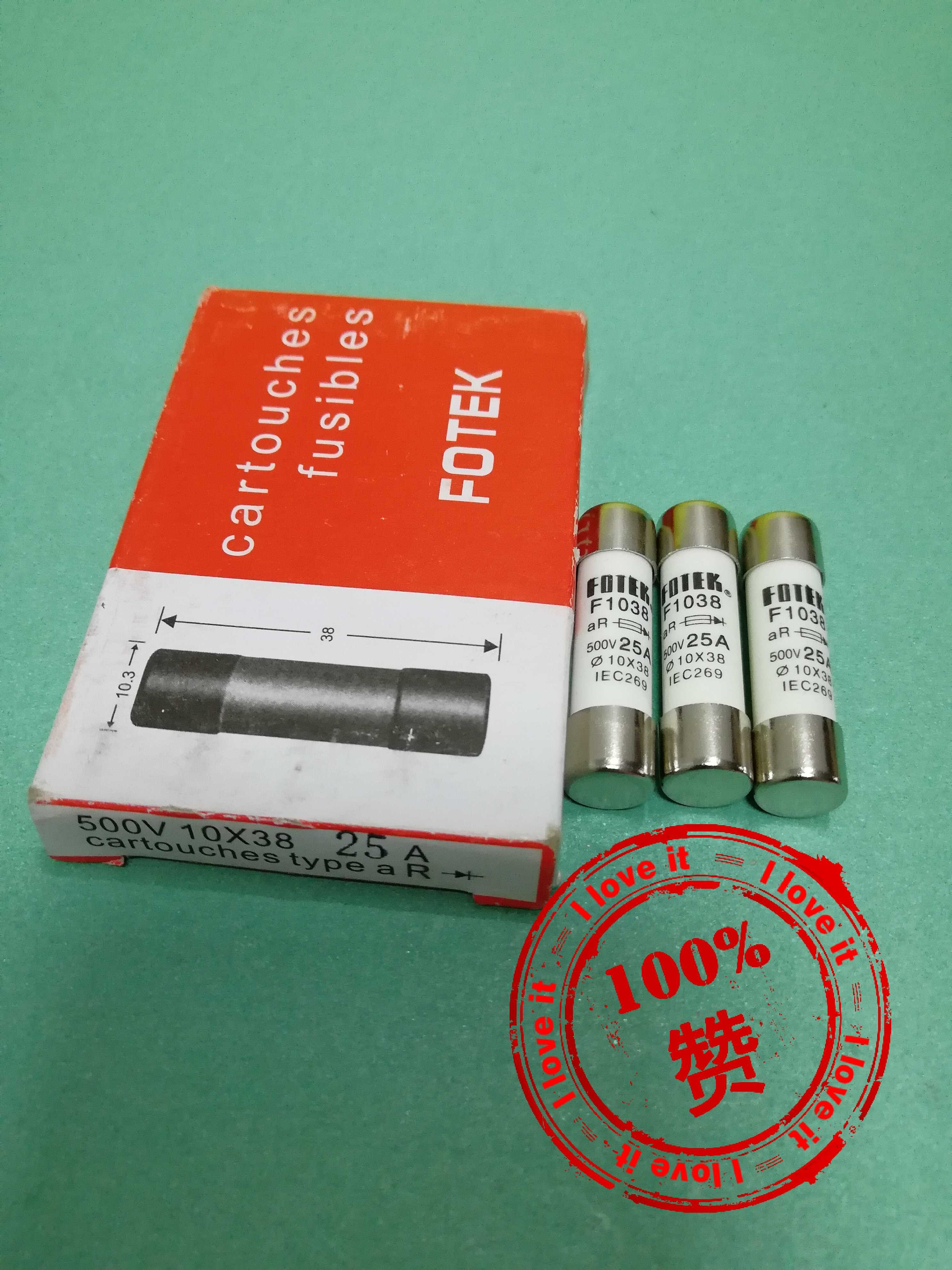 New Original Imported Accessories 25A Fuse F103825A10*38 False One Penalty Ten