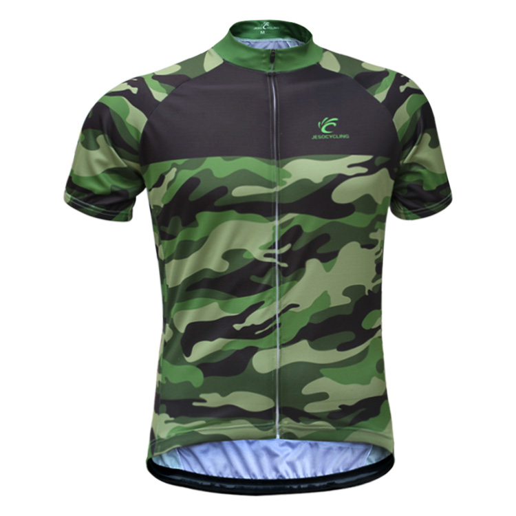 Factory Directory Sales !JESOCYCLING Men's Camouflage Cycling Jersey Spring And Summer Short Sleeve Breathable Cycling Clothing