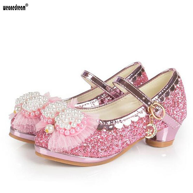 Online get cheap kids high heels shoes for Girls dress shoes for wedding