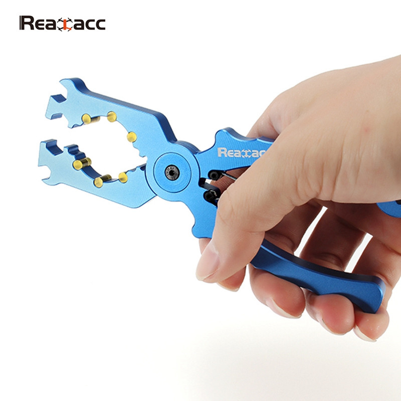 Realacc Multifunctional Alloy Pliers Wrench V2 For Tighten Outrunner Motor Housing for RC Quadcopter Drones Toy Rotor Spare Part 4set lot universal rc quadcopter part kit 1045 propeller 1pair hp 30a brushless esc a2212 1000kv outrunner brushless motor