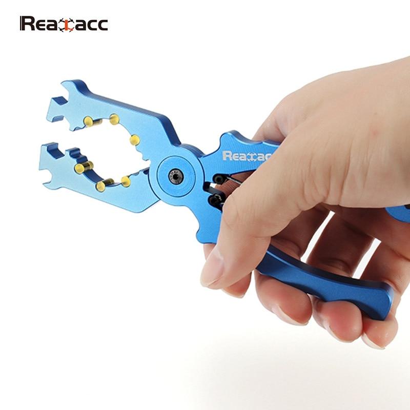 Realacc aleación multifuncional Alicates Llaves inglesas v2 para apretar outrunner Motores carcasa para RC quadcopter drones rotor juguete repuestos